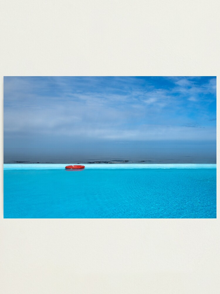 Alternate view of Handsome hot pool with ocean view, Iceland Photographic Print