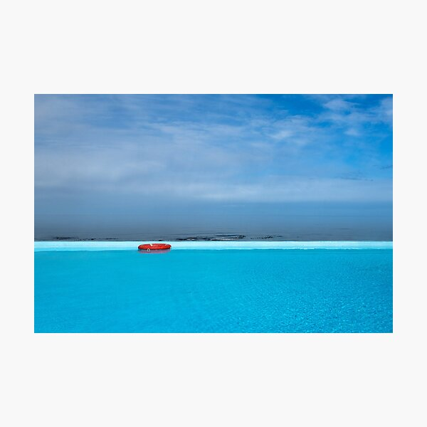 Handsome hot pool with ocean view, Iceland Photographic Print