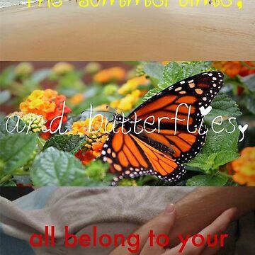 The summertime, and butterflies... by londonsalt