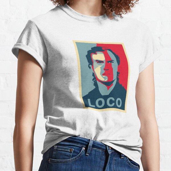 Marcelo Bielsa Loco Rojo Azul Camiseta clásica