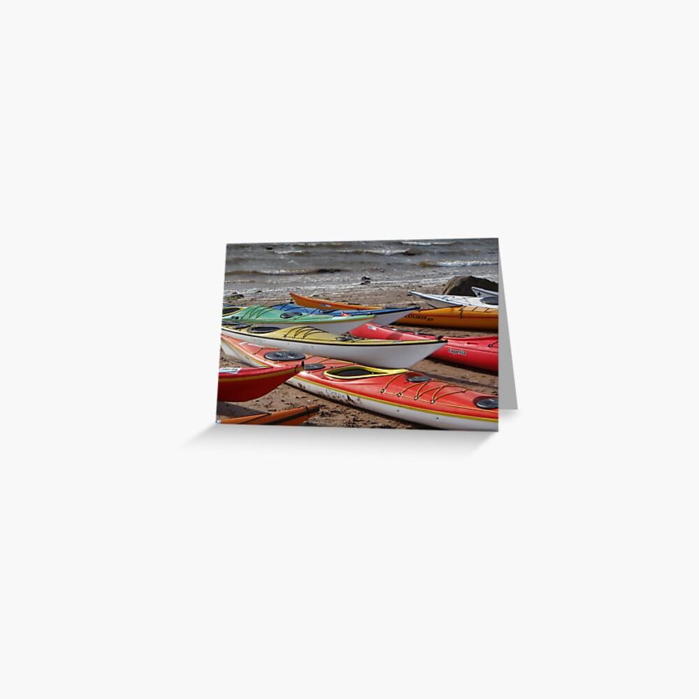 Kayaks galore Greeting Card