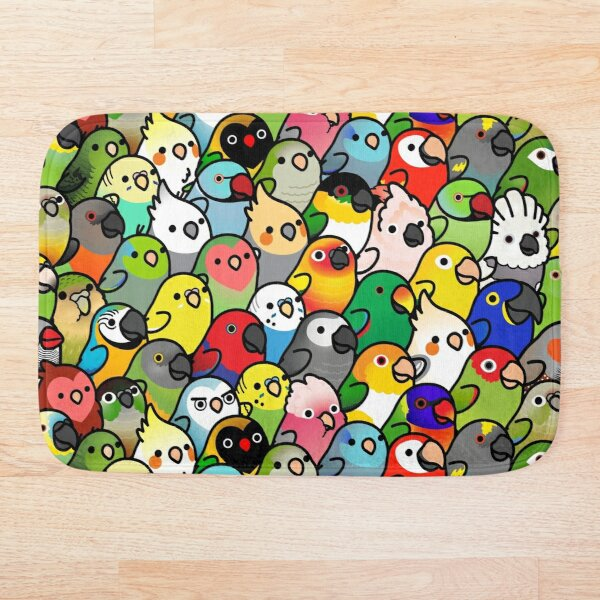 Everybirdy Pattern Bath Mat