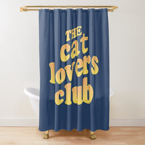 The Cat Lovers Club Shower Curtain