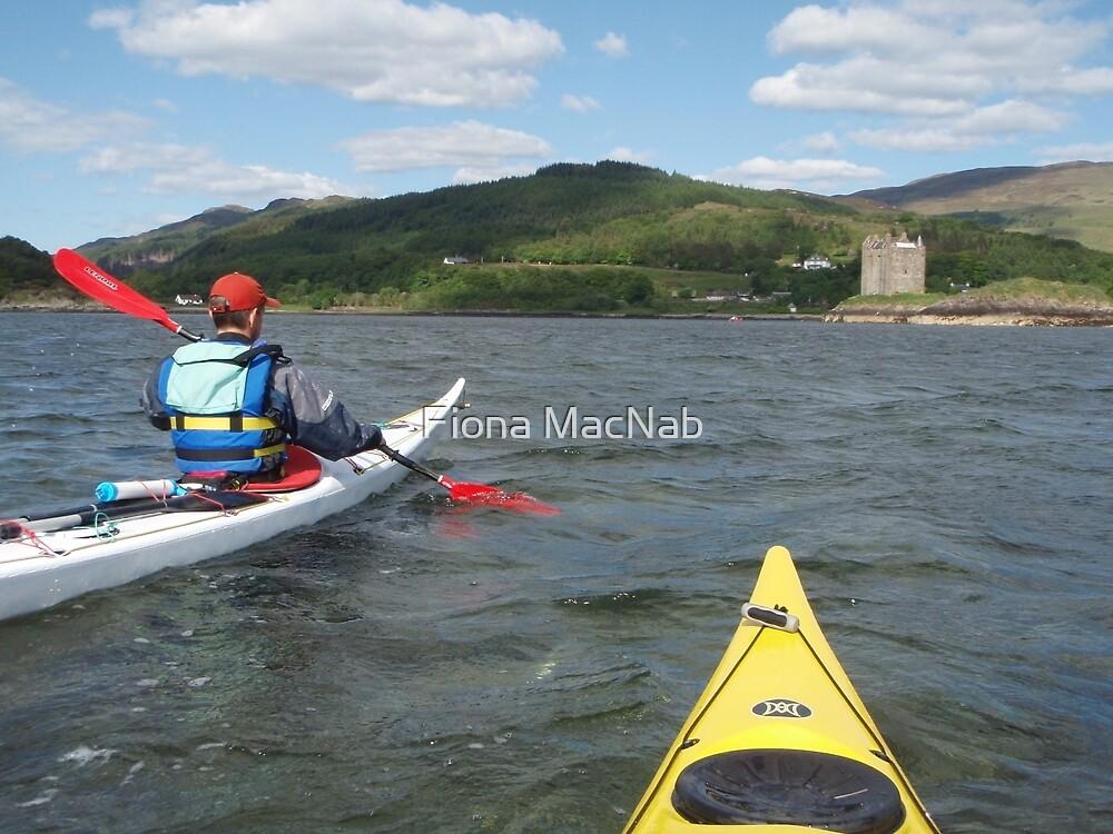 Approaching Castle Stalker by Fiona MacNab