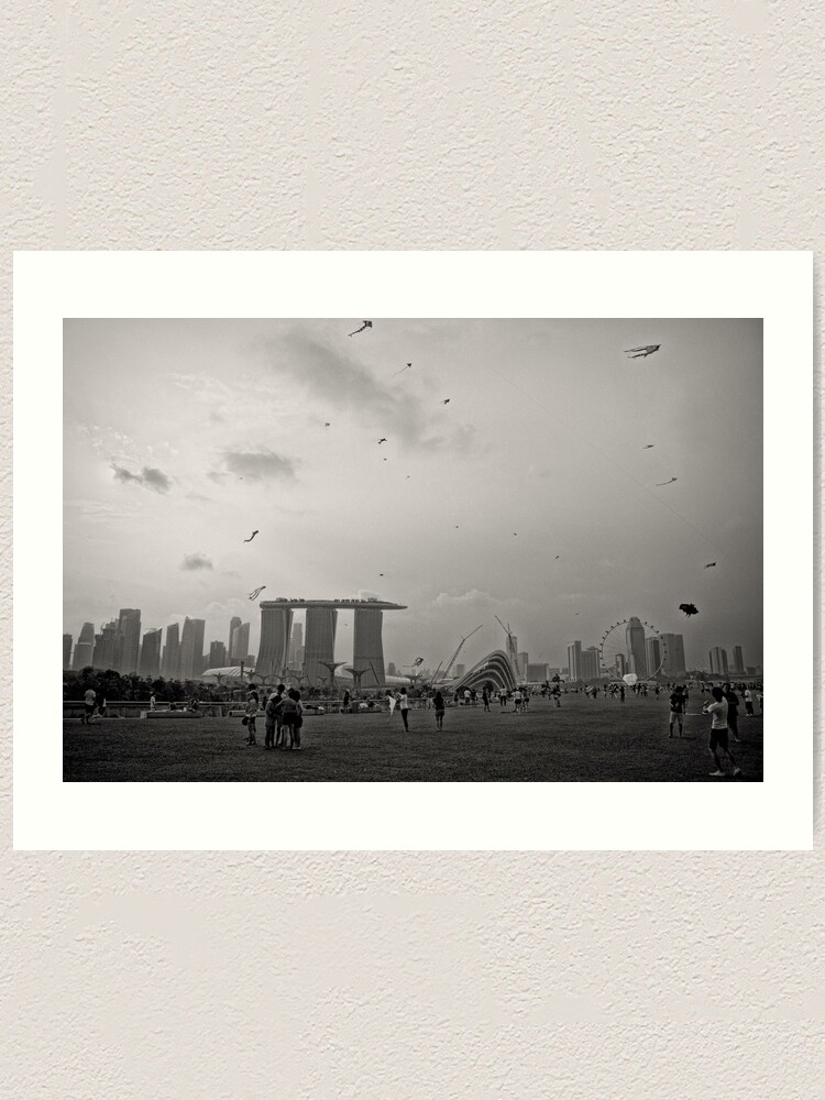 Alternate view of Day of the Kites - Singapore Art Print