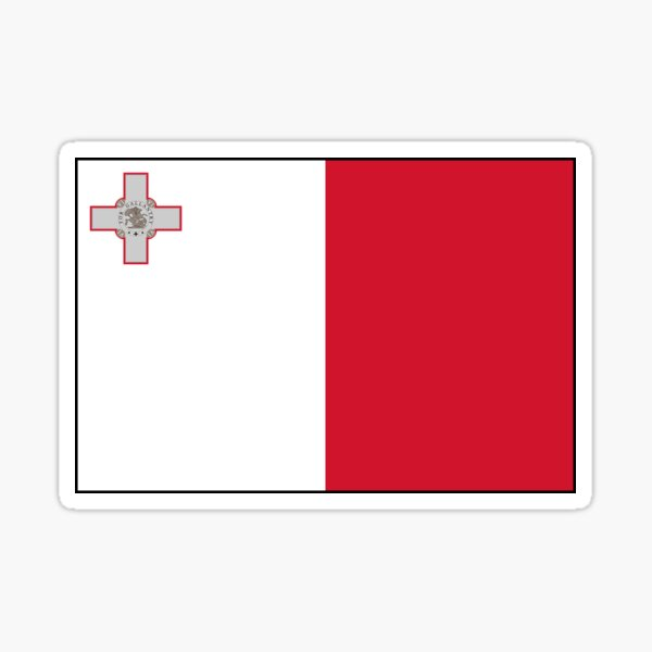 Malta Flag Stickers, Gifts and other Products Sticker