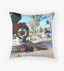 a postie bike and itz capabilities  Throw Pillow