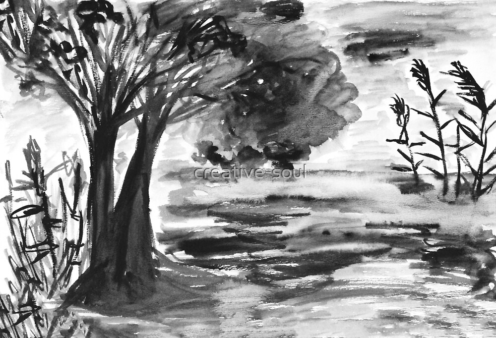 Landscape by Olga Strogonova