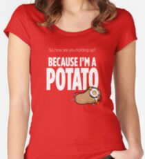 I'm a Potato Women's Fitted Scoop T-Shirt