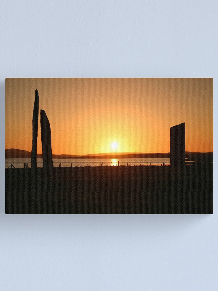Alternate view of Stenness Sunset Canvas Print