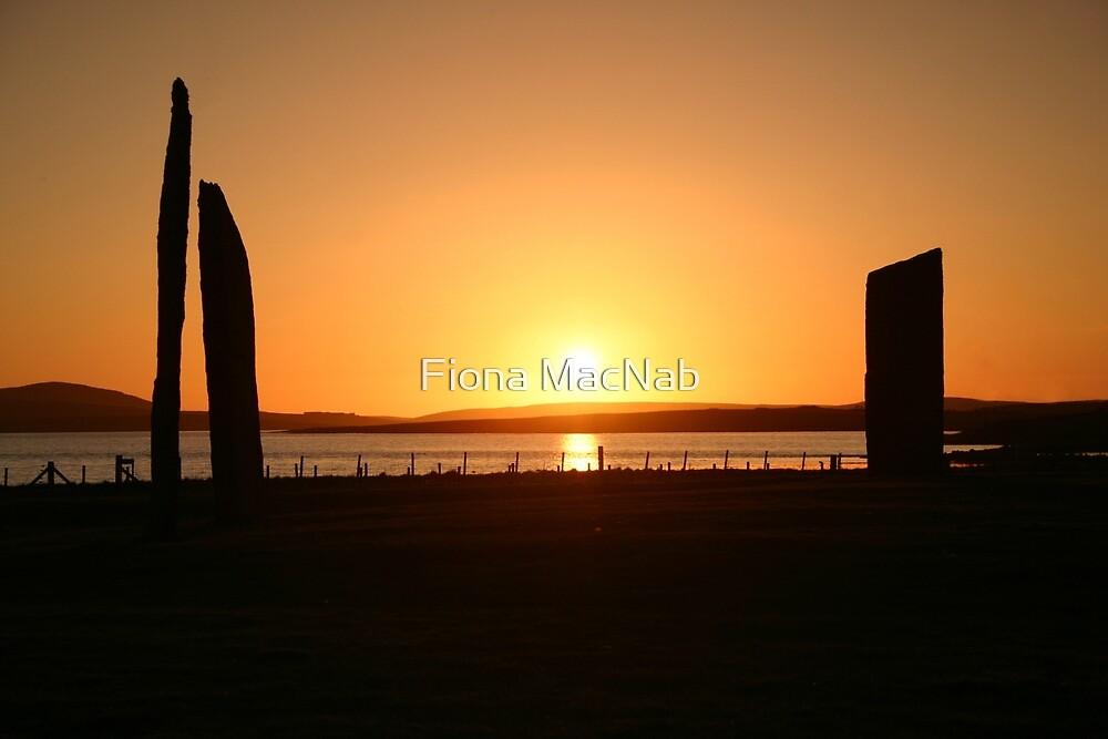 Stenness Sunset by Fiona MacNab
