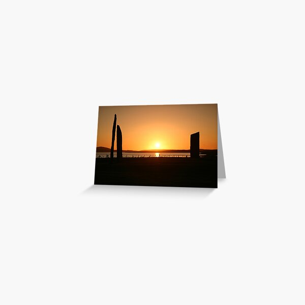 Stenness Sunset Greeting Card