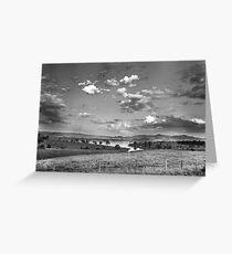 Somerset Landscape - Monochrome Greeting Card