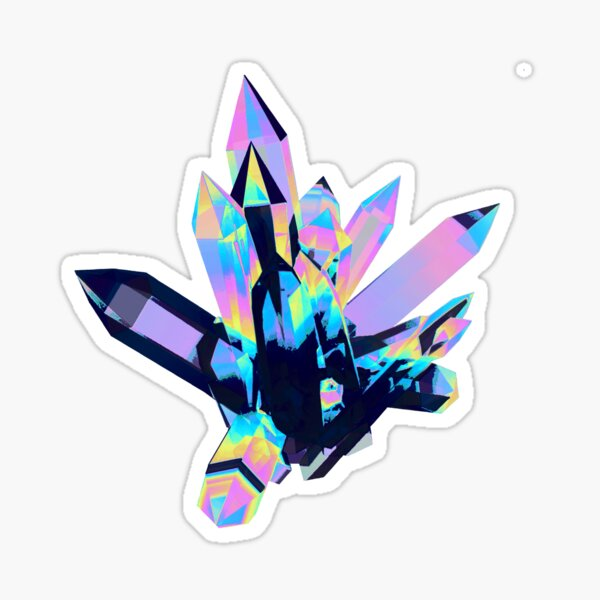 Violet Holographic Crystals  Sticker