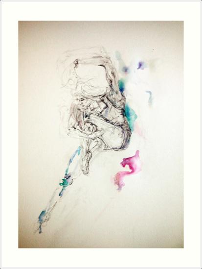 Spirit dancer, ink and pen  by christinelhill