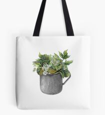 Mug with green forest growth Tote Bag