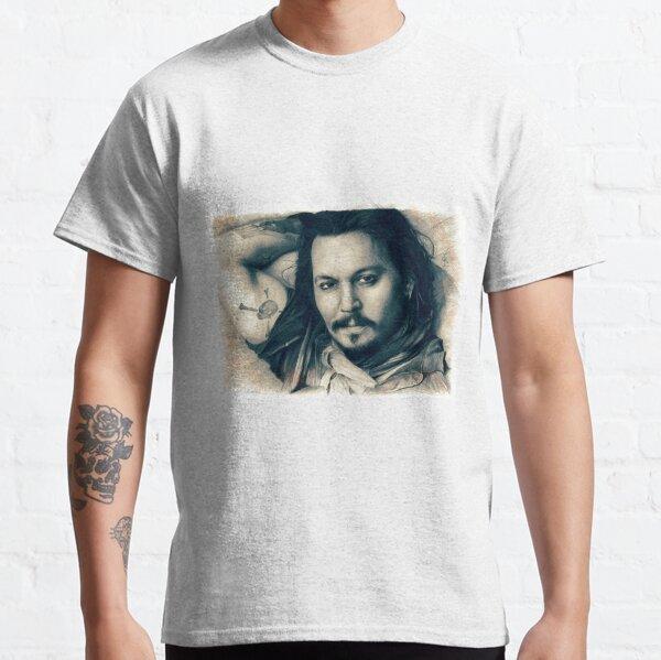 Johnny Depp drawing Classic T-Shirt