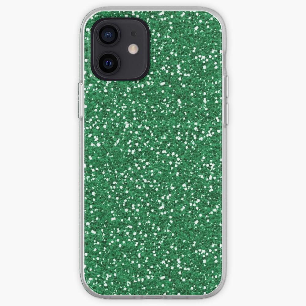 Green Glitter  iPhone Case & Cover