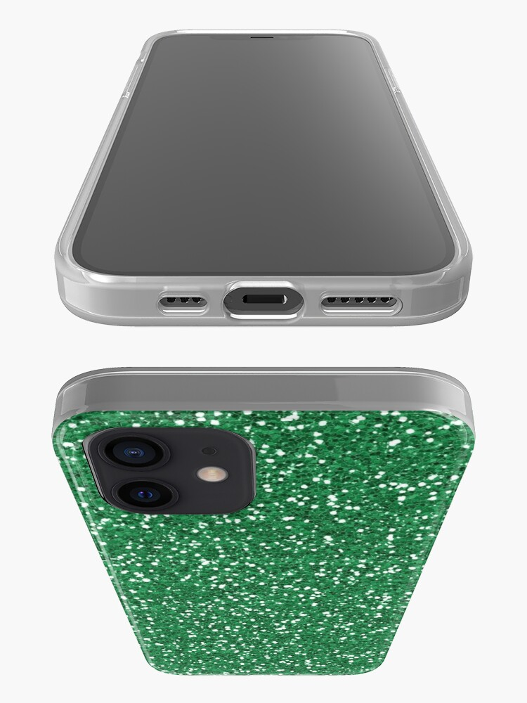 Alternate view of Green Glitter  iPhone Case & Cover