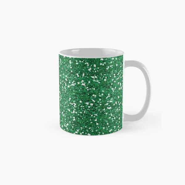 Green Glitter  Classic Mug