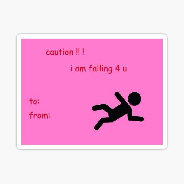 Falling For You card Sticker