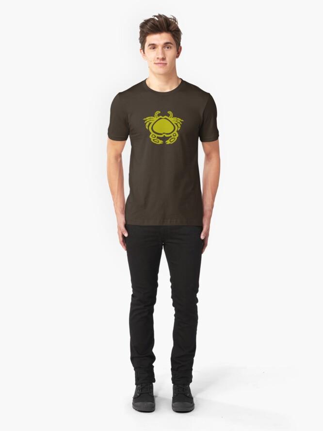 Alternate view of Indiginous Aboriginal Crab Slim Fit T-Shirt