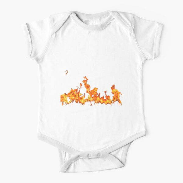 #Flame, #Forks of flame, #Spurts of flame, #fire, light, flames Short Sleeve Baby One-Piece