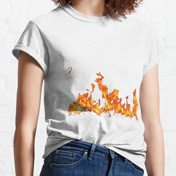 #Flame, #Forks of flame, #Spurts of flame, #fire, light, flames Classic T-Shirt