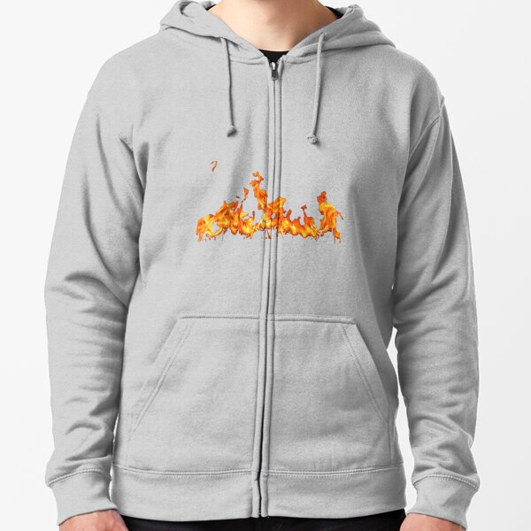 #Flame, #Forks of flame, #Spurts of flame, #fire, light, flames Zipped Hoodie