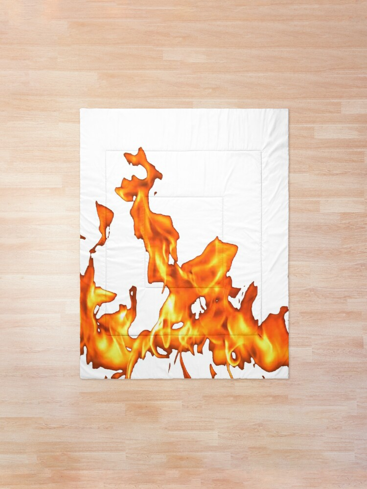 Alternate view of #Flame, #Forks of flame, #Spurts of flame, #fire, light, flames Comforter