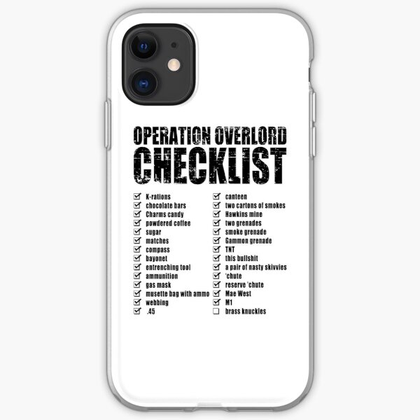 Operation Overlord Checklist iPhone Soft Case