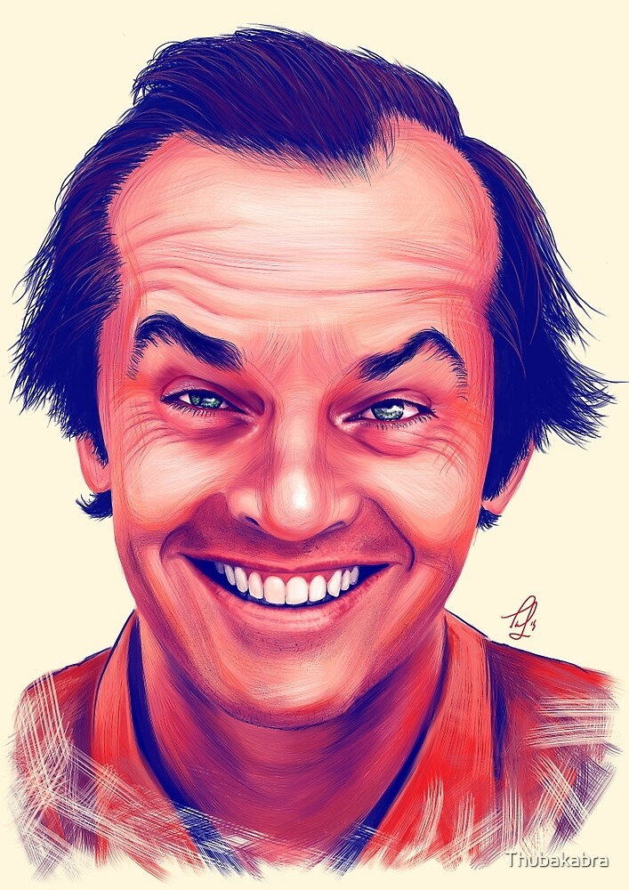 Smiling young Jack Nicholson digital painting by Thubakabra