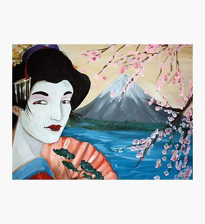 Cherry Blossom Geisha by Debbie Photographic Print