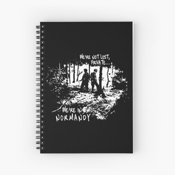 We're in Normandy Spiral Notebook