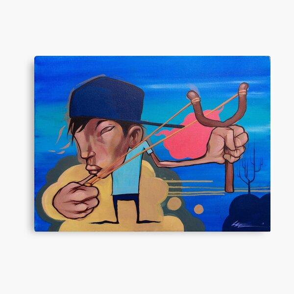 Slingshot Kid Baby Boy Urban Art  Canvas Print