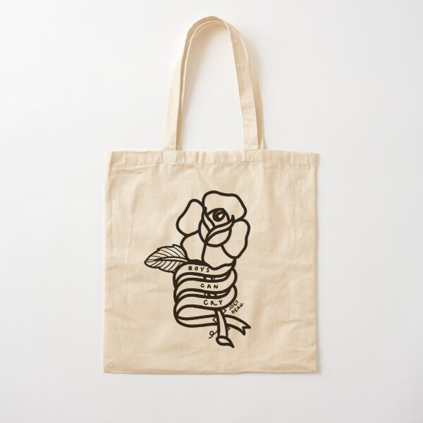 Boys Can Cry Cotton Tote Bag