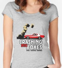 Crashing Into Boxes and Taking Names Women's Fitted Scoop T-Shirt