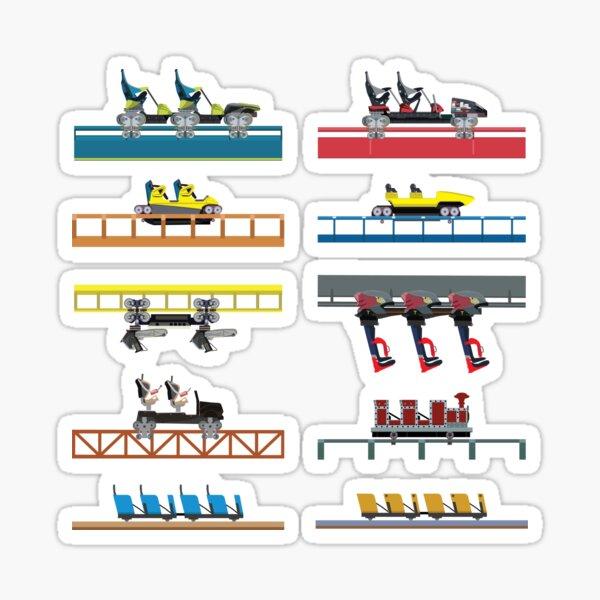 Carowinds Coaster Car Design Sticker