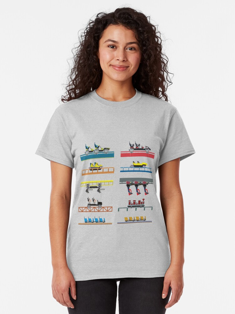 Alternate view of Carowinds Coaster Car Design Classic T-Shirt