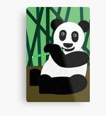 Panda Poster Metal Print