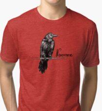 Nevermore raven - Edgar Allan Poe illustration Tri-blend T-Shirt