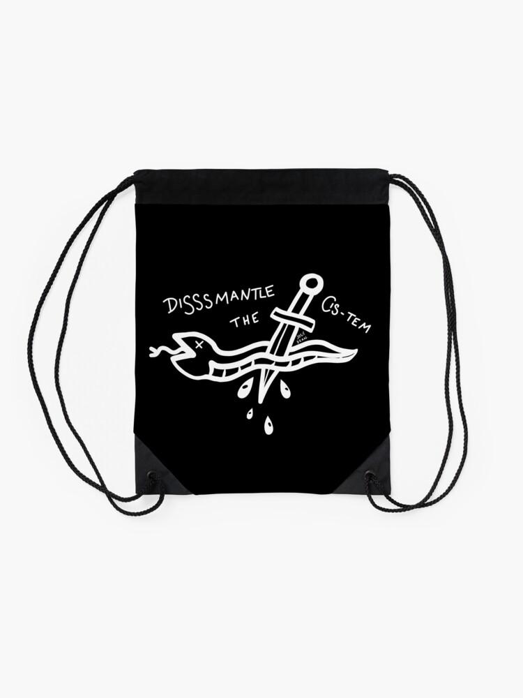 Alternate view of Anti-capitalist Snake Drawstring Bag