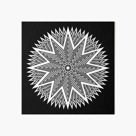 Black and White Minimalist Star Art Board Print