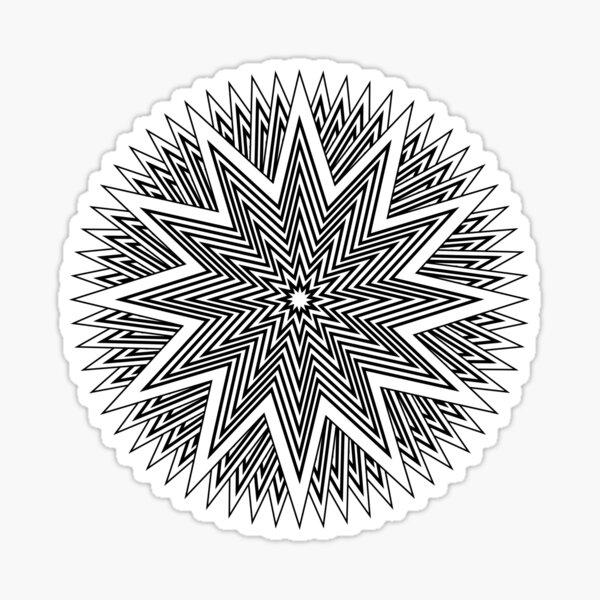 Black and White Minimalist Star Sticker
