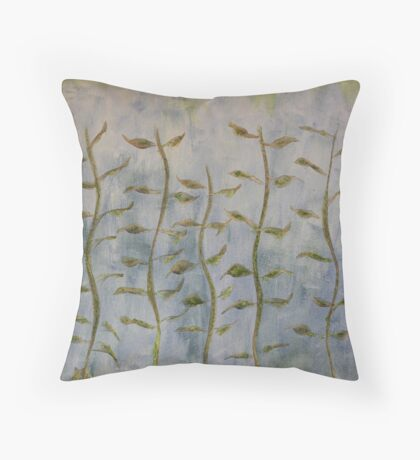 The Dancing Cabbage Weeds Throw Pillow