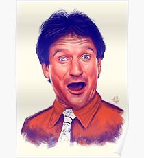 Young Robin Williams Poster
