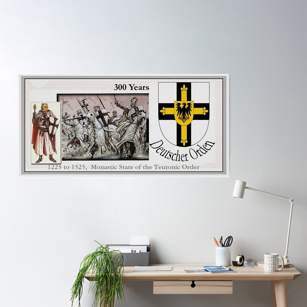 Monastic State of the Teutonic Order, 300 years Poster