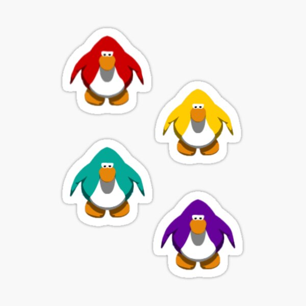 Club Penguin Penguins Sticker Set 2 Sticker