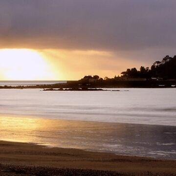 Sonnenaufgang an St Michael's Mount, Cornwall von Andrew-Hocking