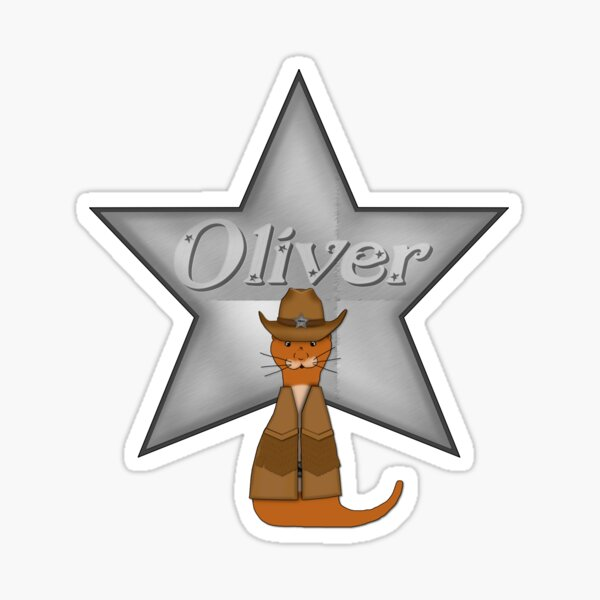 Oliver The Otter Cowboy of the Wild West Glossy Sticker